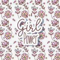 Kvinna makt mönster bakgrund vektor