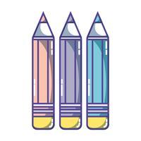 Bleistifte Farben Schule Werkzeug Objektdesign