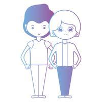 linje fint par tillsammans med frisyrdesign