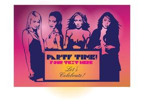 Sexy Mädchen Party Flyer vektor
