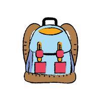 ryggsäck objekt med fickor och stängningar design