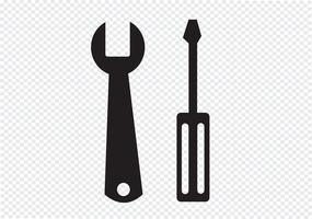 Verktygsikon Symbolsymbol vektor