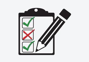 checklistikon Symbolsymbol vektor