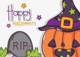 Lyckliga halloween teckningar vektor