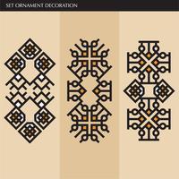 Luxus japanische, kalligraphische, aztekische elegante Ornamentlinien vektor