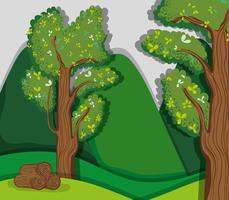 Schöne Waldlandschaft vektor