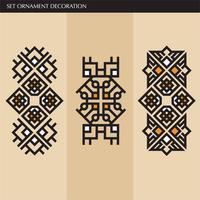 Lyxig japansk, kalligrafisk, Aztec elegant prydnadslinjer för etikett