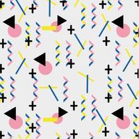geometrische Farbfiguren Memphis Style Hintergrund