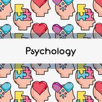 Psychologie Behandlung Analyse Hintergrunddesign vektor