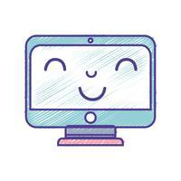 Kawaii süß glücklich Bildschirm Monitor
