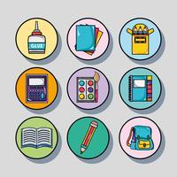 Legen Sie das Design der Schulwerkzeuge fest, um zu lernen und zu lernen