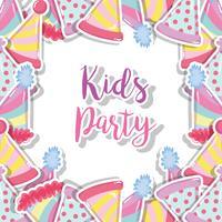 Kinder-Party-Cartoon vektor