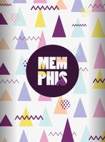 Memphis mall och bakgrund vektor