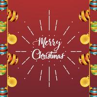 Frohe Weihnachten Bälle Dekoration Plakatgestaltung vektor
