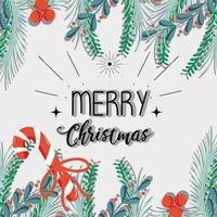 Frohe Weihnachten Dekoration Karte zum Feiern vektor