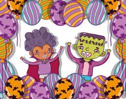 Halloween und Kinder Cartoons vektor