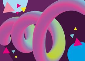 Futuristisches flüssiges Wurmplakat vektor