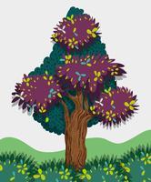 Träd i skogen vektor