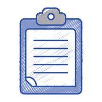 Checkliste Geschäftsdokument in der Zwischenablage Design