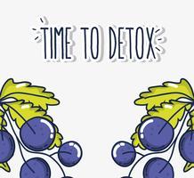 Tid för detox vektor