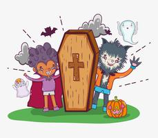 Halloween und Kinder Cartoons