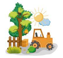 Schöne Bauernhofkarikaturen