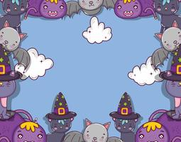 Halloween och ungar teckningar