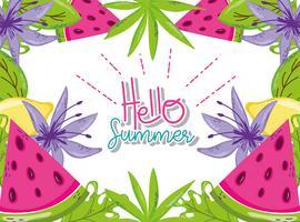 Hej sommartecknader
