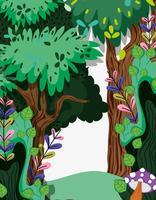Vackert skogslandskap