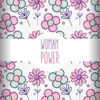 Frauenpower-Musterhintergrund vektor