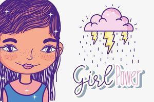 Mädchenpower-Cartoons vektor