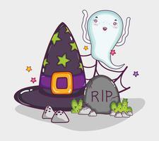 Söt spöke halloween tecknad film