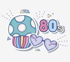Ich liebe 80er Jahre Cartoons vektor