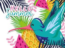 Hallo Sommer-Cartoons vektor