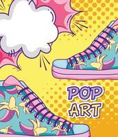 Pop-Art lustige Cartoons vektor