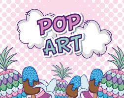 Pop-Art-Cartoons-Konzept vektor