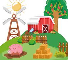 Vackra gårdsbilder