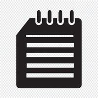Notebook ikon symbol tecken