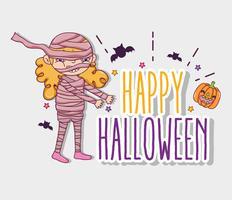 Fröhliche Halloween-Cartoons vektor
