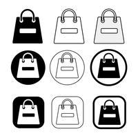 Einkaufstasche-Symbol Verkauf Paket Zeichen vektor