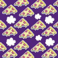 Pizza pop art bakgrund vektor