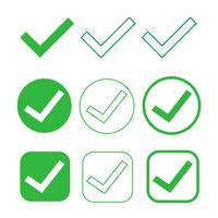 Einfaches Häkchen-Symbol akzeptieren genehmigen Zeichen