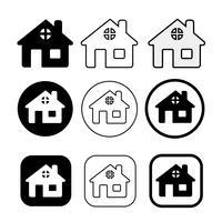 einfaches Haus und Haus Symbol Symbol Zeichen vektor