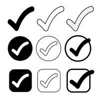 Enkel Tick ikon acceptera godkänna tecken vektor