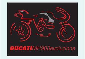 Ducati mh900e vektor