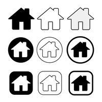 Enkelt hus och hem ikon symbol tecken vektor
