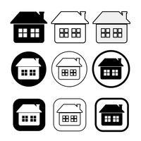 enkel hus symbol och hem ikon underteckna vektor