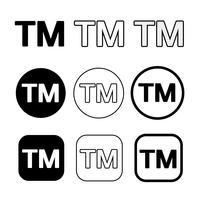 Warenzeichen Symbol Symbol Zeichen vektor