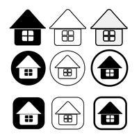 enkel hus symbol och hem ikon underteckna