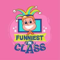 Funnigste i klassfras med färgstark illustration. Tillbaka till skolan citat vektor